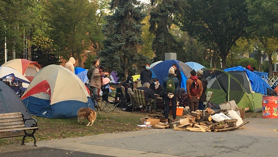 Peace Camp, Old Strathcona, homeless