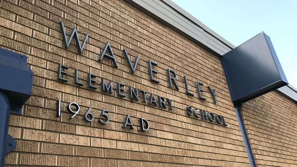 Waverley Elementary School in Edmonton. Sept. 18, 2020. (CTV News Edmonton)