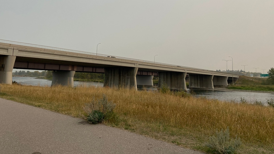 Stoney Trail, bridge, Bow River