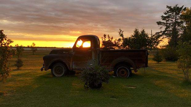Sunrise near Ashern. Photo by Lisa Malcolm.