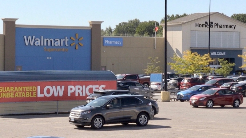 Hyde Park Walmart in London Ont. on Sept. 18, 2020. (Jim Knight/CTV London)