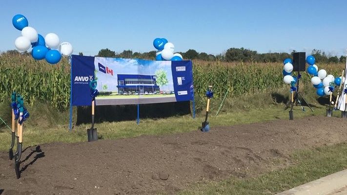 ANVO Laboratories ground breaking in London Ont. on Sept. 18, 2020.(Marek Sutherland/CTV London)