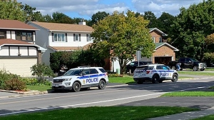 Ottawa Police investigating reports of a shooting in Orleans on Friday. (Viewer submitted photo)