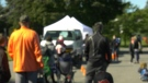 Dozens of people attended a mobile COVID-19 testing clinic at an Ottawa school on Friday. (Jeremie Charron/CTV News Ottawa)