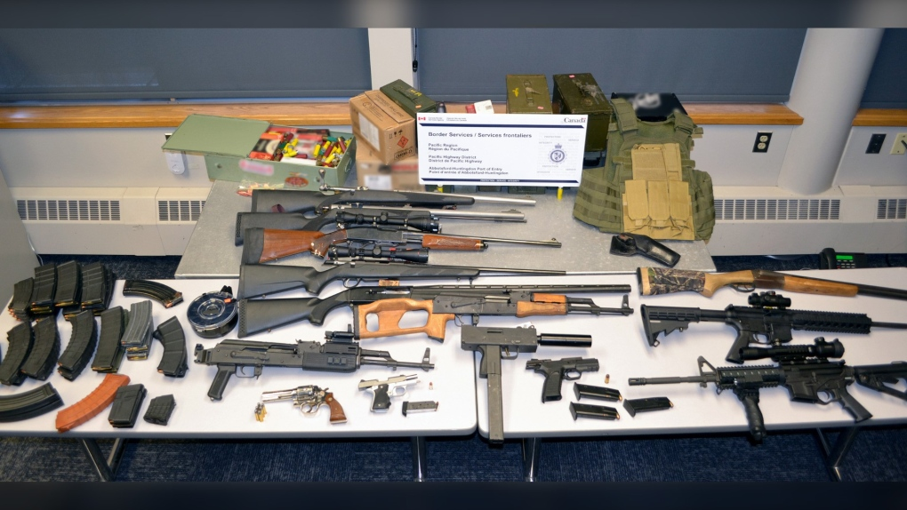 Firearms seized at border: CBSA