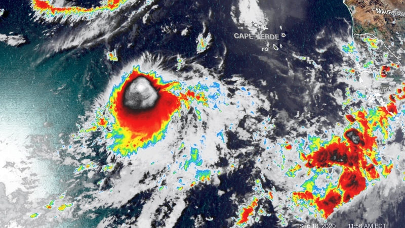 Tropical Storm Wilfred formed in the eastern Atlantic, marking off the last name on the 2020 list of Atlantic hurricane names (credit CNN).