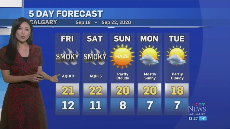 Air quality could drop in Calgary. Adriana has det