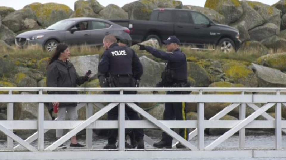 The RCMP in Meteghan say they responded to complaints about mischief and threats on Thursday after three Indigenous fishing crews sailed out of the harbour in nearby Saulnierville to set lobster traps in St. Marys Bay.