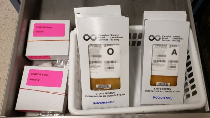 Convalescent blood plasma is being used in an attempt to treat COVID-19. (Supplied: Saskatchewan Health Authority)
