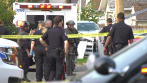 Police incident in north Edmonton on Sept. 18, 2020.