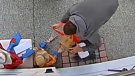 DoorDash is apologizing after a food delivery driver working for the company was caught on camera stealing a package from a customer's doorstep in Surrey, B.C. Thursday. (Geraldine Paz)