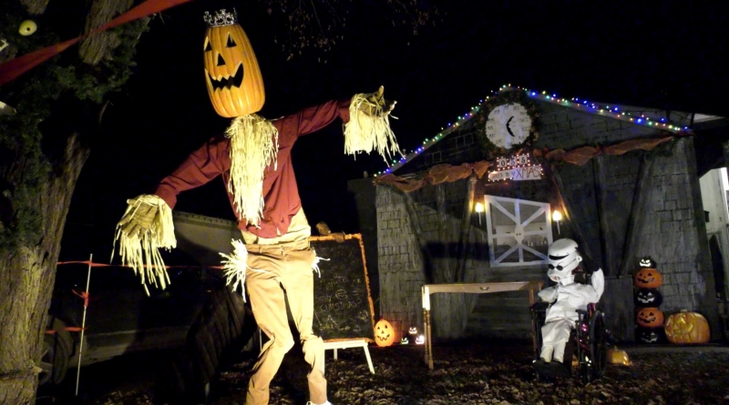Halloween decorations are pictured in this file photo.