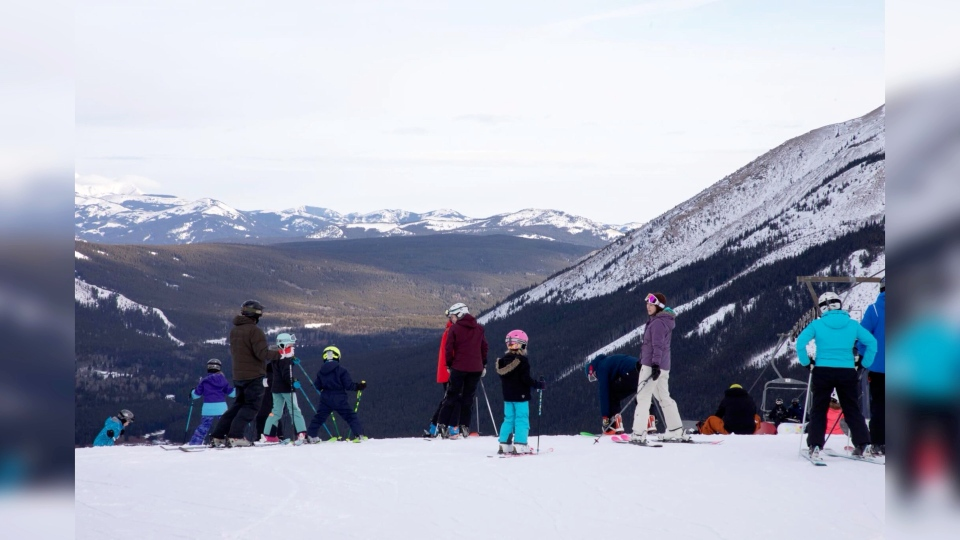 Skiing and snowboarding is a good sport for staying active and socially distancing.