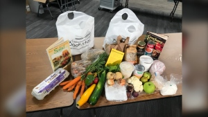 In mid-August, the college began a food hamper program to provide students with fresh local produce, canned goods, tasty prepared meals and more.