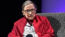 U.S. Supreme Court Justice Ruth Bader Ginsburg speaks at Amherst College in Amherst, Mass., Thursday, Oct. 3, 2019. (AP / Jessica Hill)