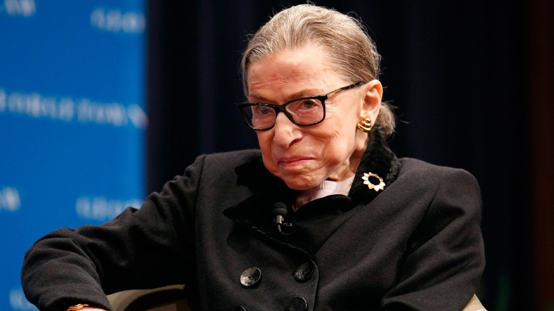 Supreme Court Justice Ruth Bader Ginsberg attends a panel with former President Bill Clinton and former Secretary of State Hillary Clinton, Wednesday, Oct. 30, 2019, at Georgetown Law's second annual Ruth Bader Ginsburg Lecture, in Washington. (AP / Jacquelyn Martin)