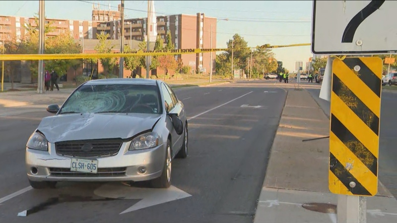 Police are investigating after a pedestrian was struck and killed by a vehicle in Etobicoke on Saturday, Sept. 19, 2020.
