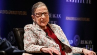Supreme Court Justice Ruth Bader Ginsburg, smiles as she attends a panel discussion celebrating Sandra Day O'Connor, the first woman to be a Supreme Court Justice, Wednesday Sept. 25, 2019, at the Library of Congress in Washington. (AP Photo/Jacquelyn Martin)