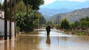 The village of Magoula in central Greece was in the zone hit by the storm. (AFP)