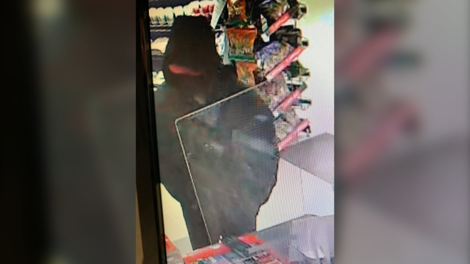 Suspect on convenience store security camera