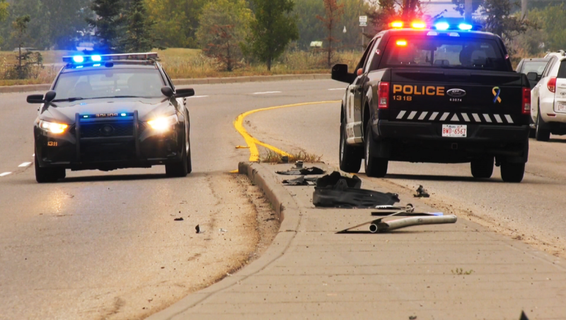 One person is in hospital following a single vehicle incident early Saturday morning in northeast Calgary
