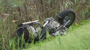 A motorcyclist has died after a head-on crash in Brant County. (Sept. 19, 2020)