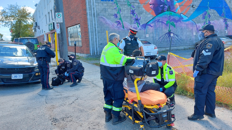 The police service's communications coordinator Marc Depatie said it's in response to safety concerns in areas like the downtown core — and led to solving several issues within minutes of patrol. (Supplied photo)