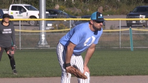 On top of remembering Lalonde throughout the weekend and being able to finally play ball, the Nipissing Slo-Pitch Association mini-league event is also raising money for seven local charities. Sept.19/20 (Alana Pickrell/CTV News Northern Ontario)