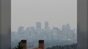 Calgary's air quality index was predicted to rise to seven by late Saturday afternoon