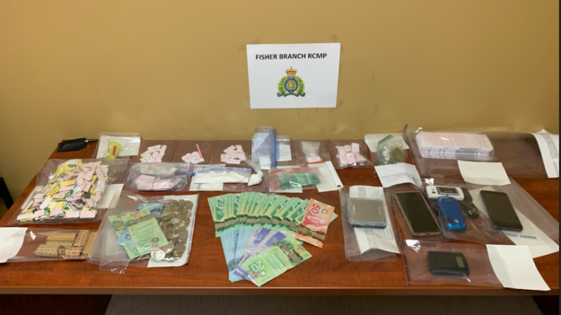 RCMP seized cash and drugs from a Peguis First Nation home. (Source: RCMP)