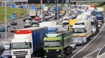 The British M25 motorway is pictured in this file photo. (Tim Graham/Getty Images/CNN)