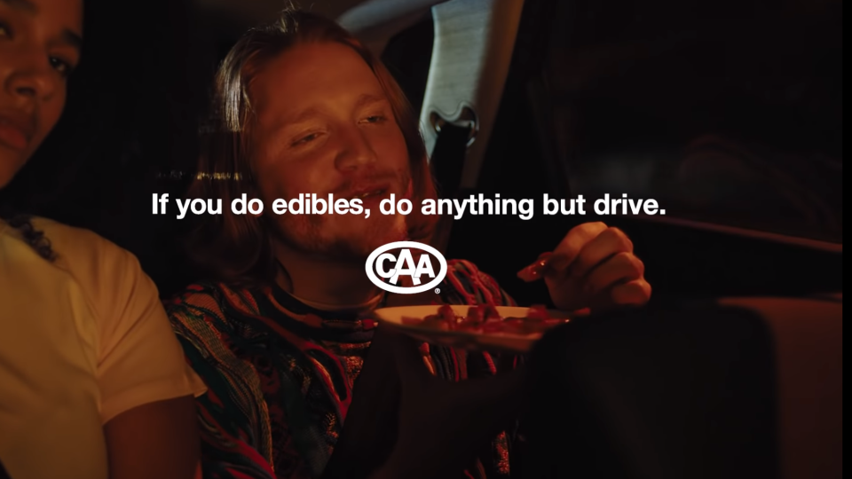 A new campaign from the Canadian Automobile Association is targetting youth who drive while stoned. SOURCE: CAA