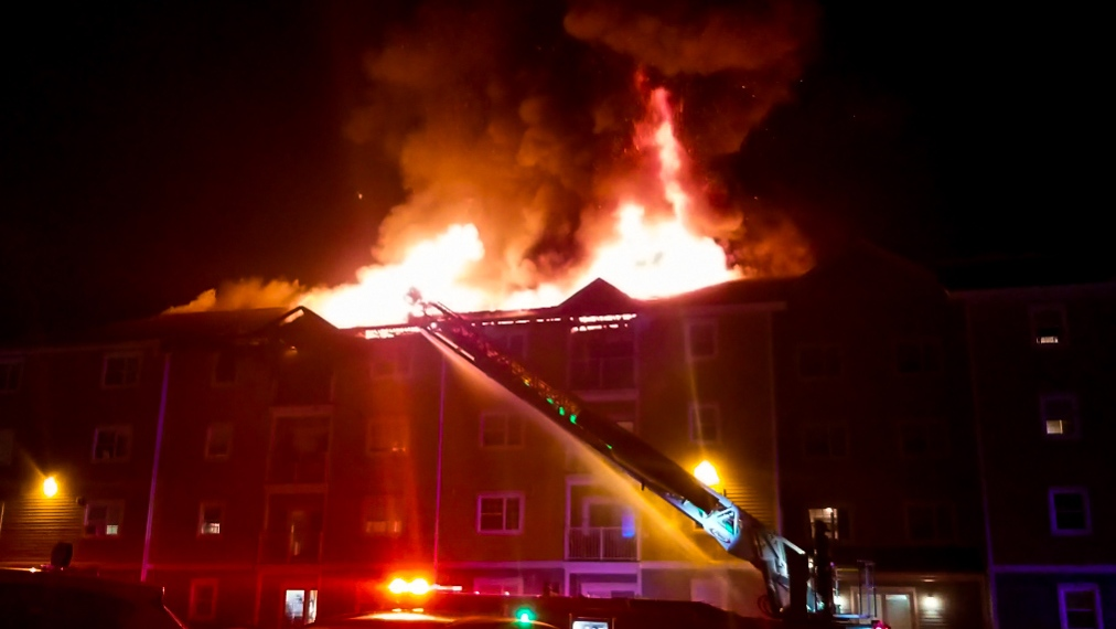 Apartment fire in Dieppe, N.B.