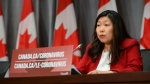 Minister of Small Business, Export Promotion and International Trade Mary Ng takes part in a press conference on Parliament Hill amid the COVID-19 pandemic in Ottawa on Monday, May 25, 2020. THE CANADIAN PRESS/Sean Kilpatrick