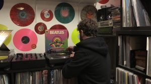 Waxman Records owner, Todd Gledhill in North Bay says locally he's seen more of an interest in his store after a 2020 midyear report from Nielsen Music states that vinyl records has surpassed CD sales. Sept.20/20 (Alana Pickrell/CTV News Northern Ontario)