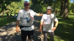 Tom Massel , left, and Keith Tapp have taken part in all 40 Terry Fox Runs.