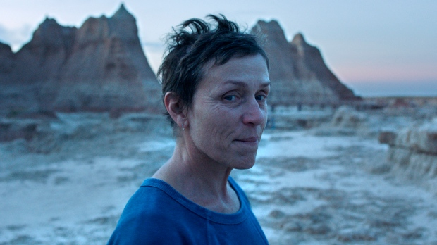 "This image released by Searchlight Pictures shows Frances McDormand in a scene from the film ""Nomadland."" (The Associated Press)"