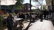 Restaurant patio during COVID-19