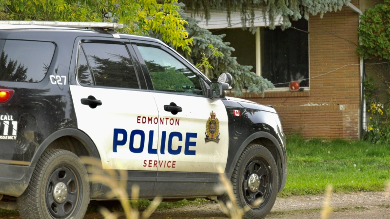 One person was injured, and another person died after an incident in southwest Edmonton on Sept. 20, 2020. (Sean Amato/CTV News Edmonton)