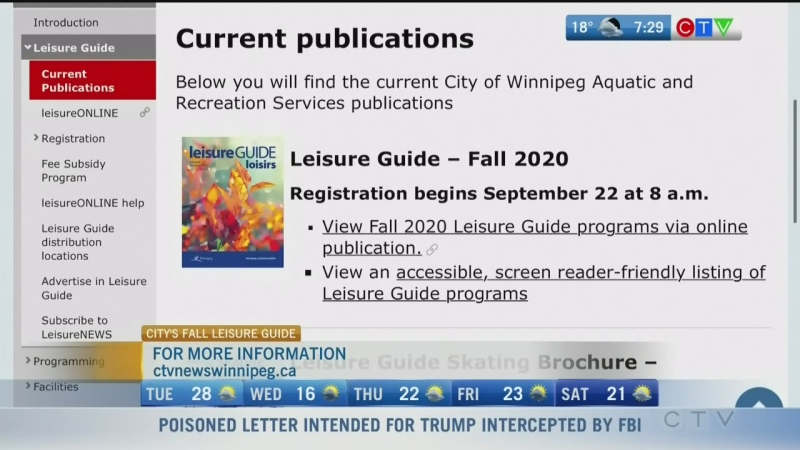 Leisure Guide registration starts Tuesday