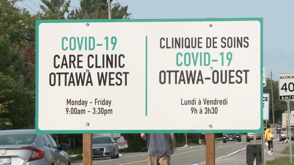 COVID-19 Care Clinic in Ottawa located at 495 Moodie Drive.