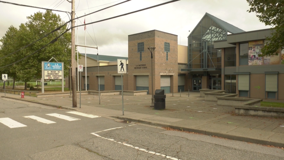L.A. Matheson Secondary School is pictured in Surrey, B.C., in September 2020.