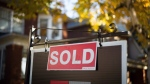 A real estate sold sign hangs in front of a west-end Toronto property, on Nov. 4, 2016. (Graeme Roy / THE CANADIAN PRESS)
