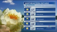 Mainly sunny start to the work week in the north
