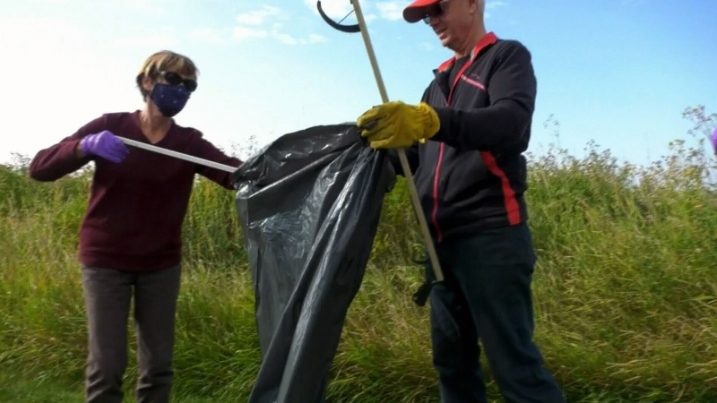 Cleaning up Calgary's pathways