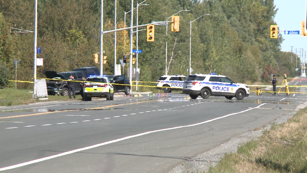 Serious collision in Greely