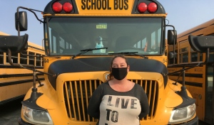 Roxanne Oswald, a school bus driver in Sudbury, encourages people to consider becoming a bus driver, an occupation she said is more rewarding that you might expect. (Alana Everson/CTV News)
