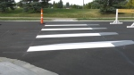 A new 3D crosswalk has been installed in Beaumont. Monday Sept. 21, 2020 (CTV News Edmonton)