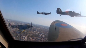 Spitfire flyover marks Battle of Britain