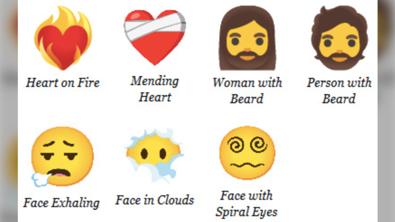 A look at some of the new emojis coming out next year. (Unicode)